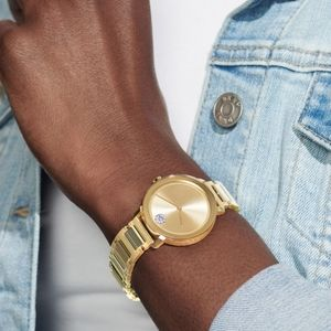 Movado Bold Mid-Size Crystal Watch